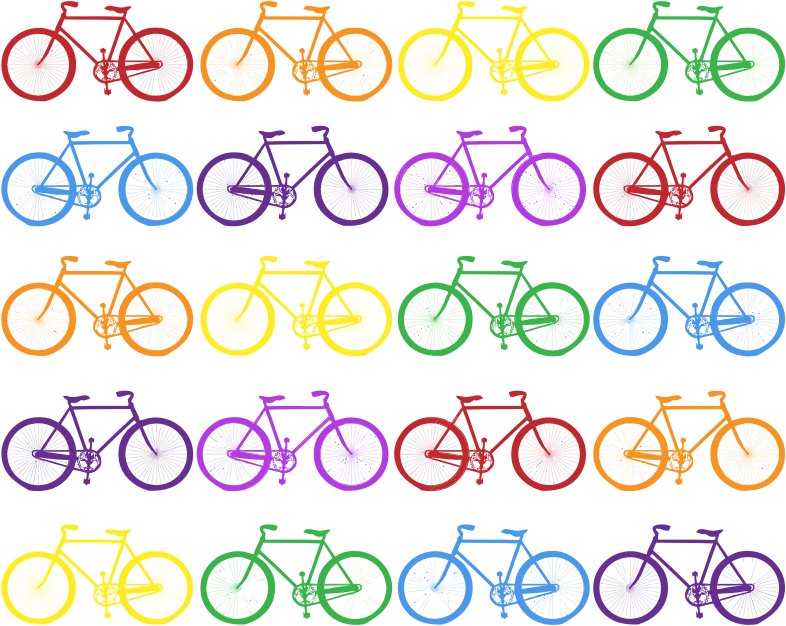 Colorful Bicycles Background