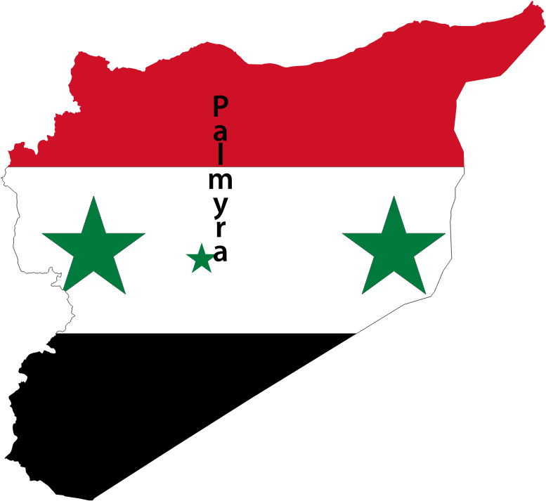 Syria Map Flag With Palmyra