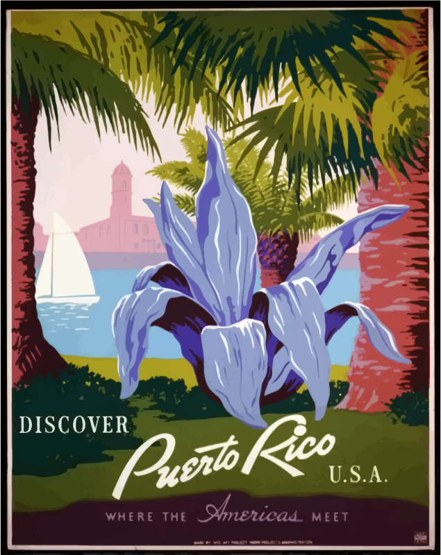 Vintage Travel Poster Puerto Rico 2