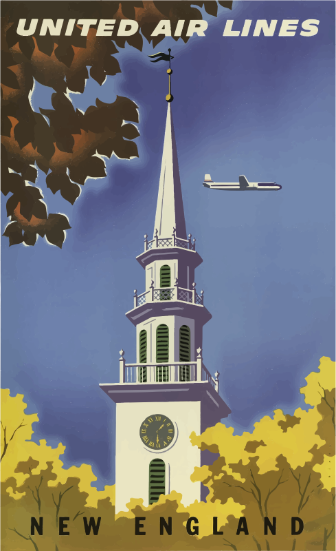 Vintage Travel Poster New England USA