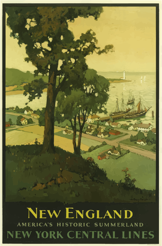Vintage Travel Poster New England USA 2