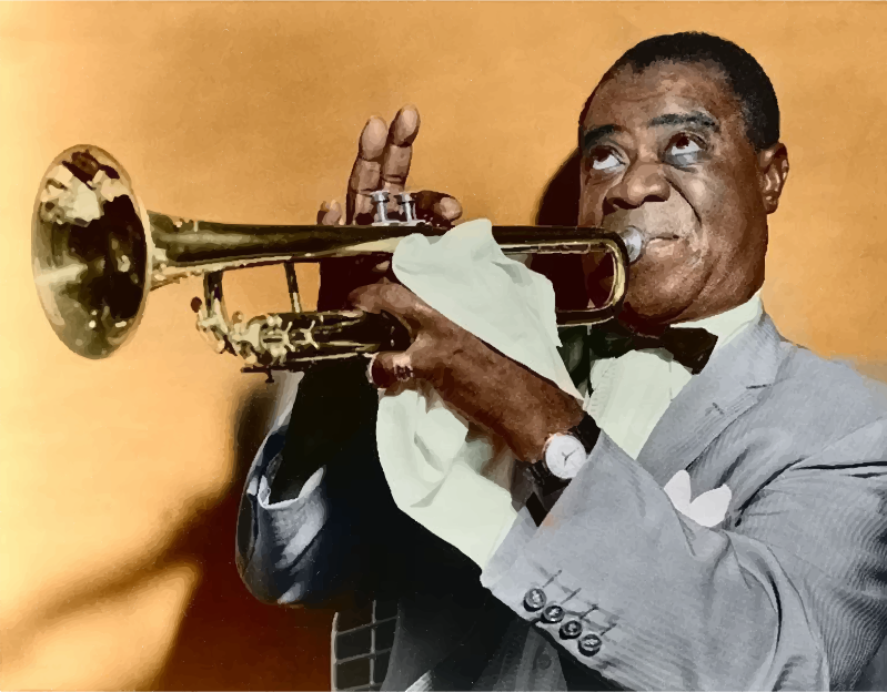 Louis Armstrong Restored Color