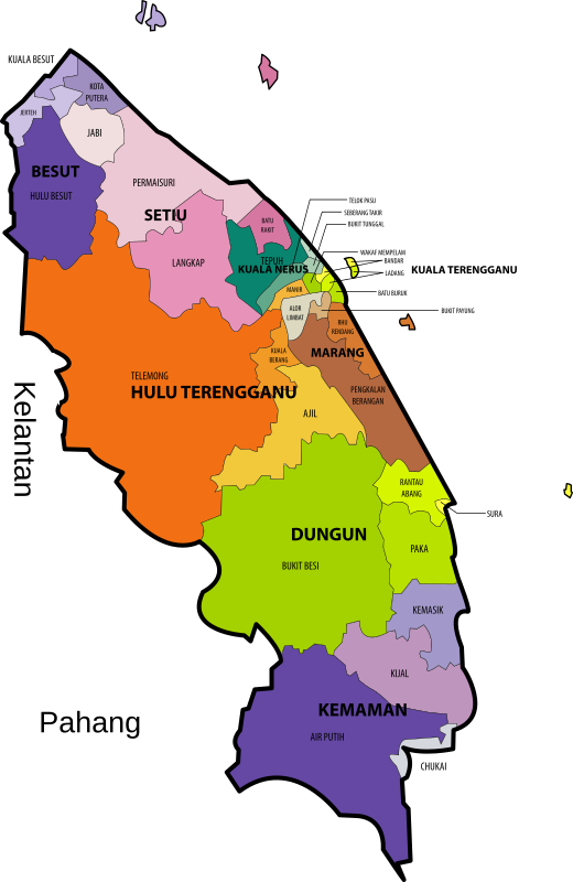 Terengganu State Legislative Assembly Constituencies
