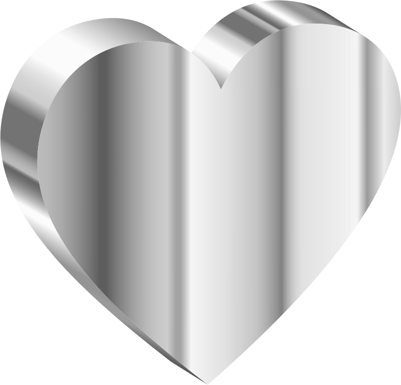 3D Heart Of Stainless Steel