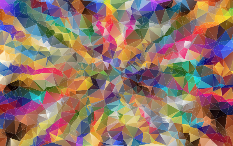 Colorful Low Poly Wallpaper