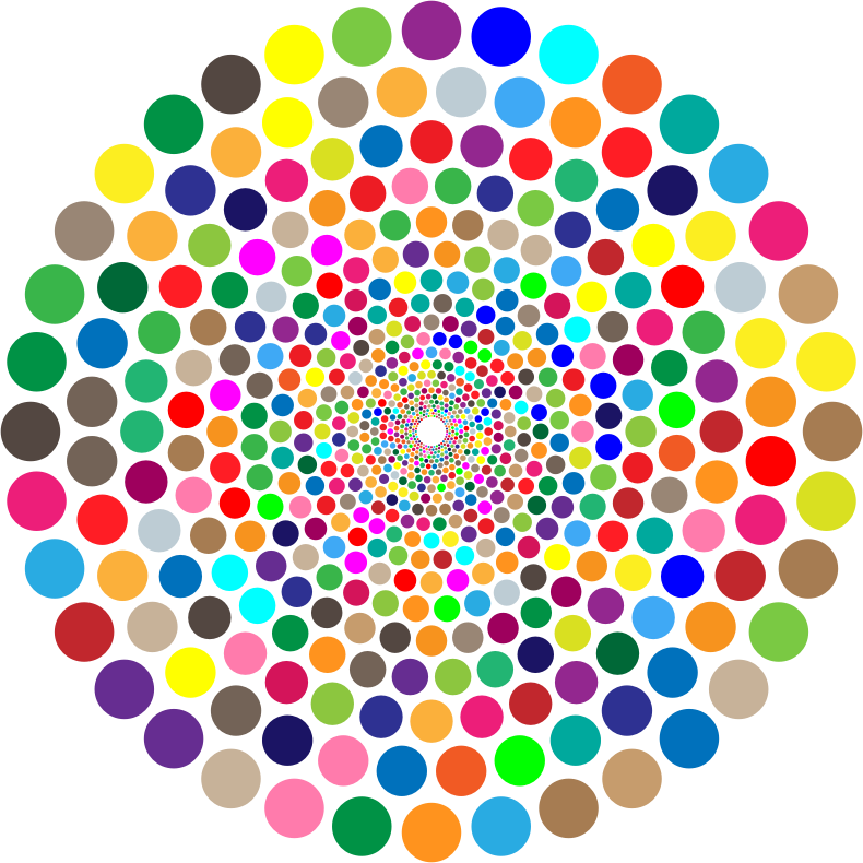 Colorful Concentric Circles Vortex