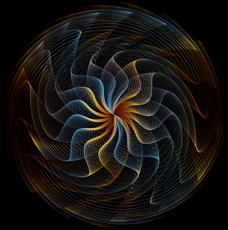 Colorful Wavy Vortex Line Art 6