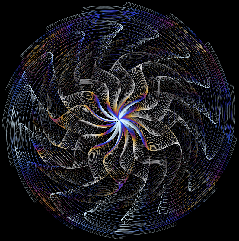 Colorful Wavy Vortex Line Art 7