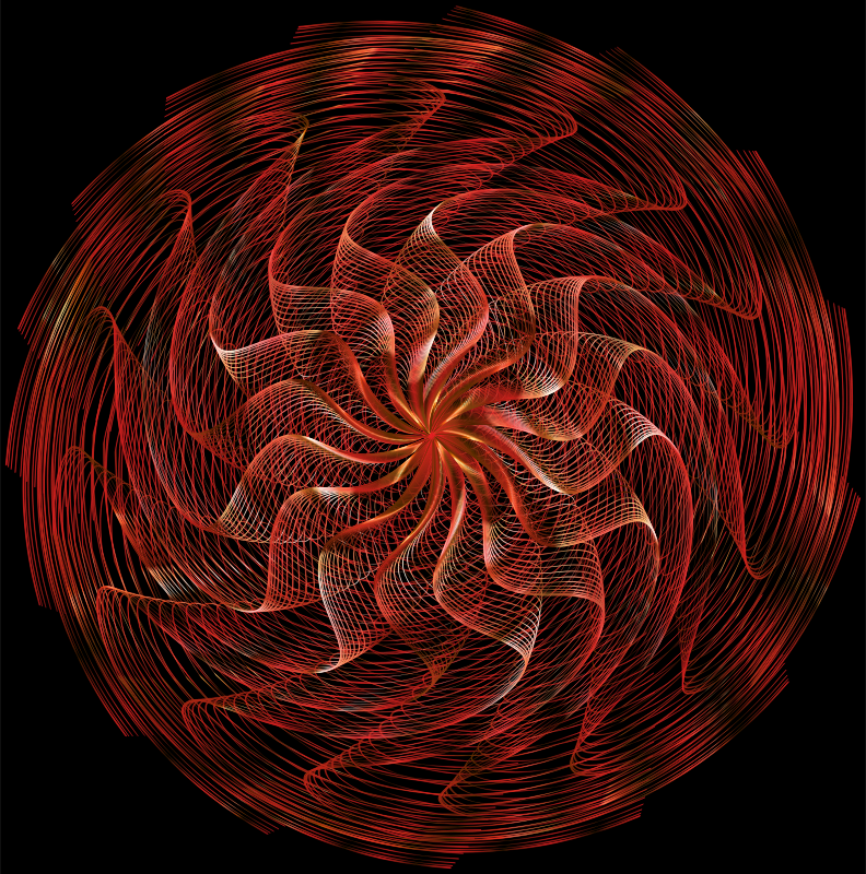 Colorful Wavy Vortex Line Art 11