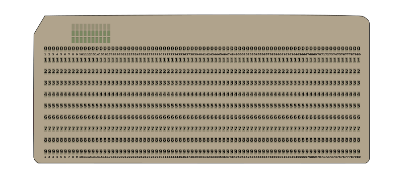 80-column punched card