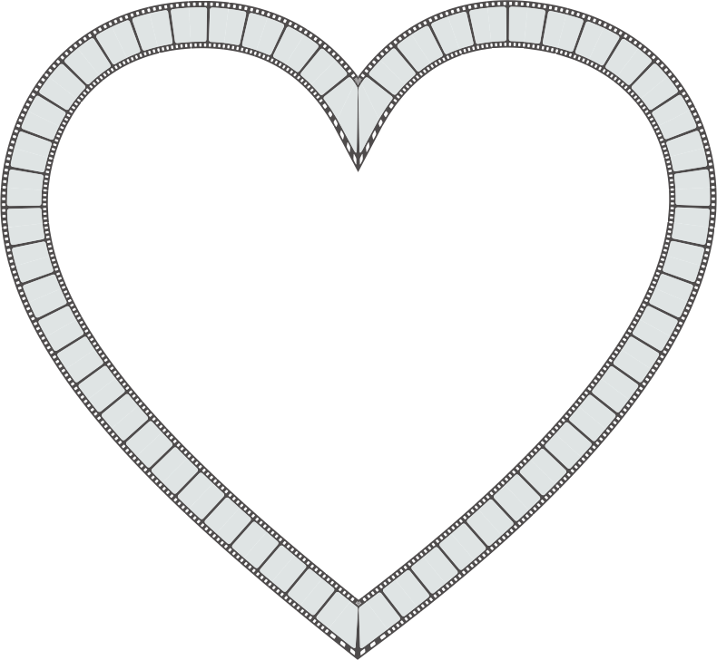 Film Strip Heart