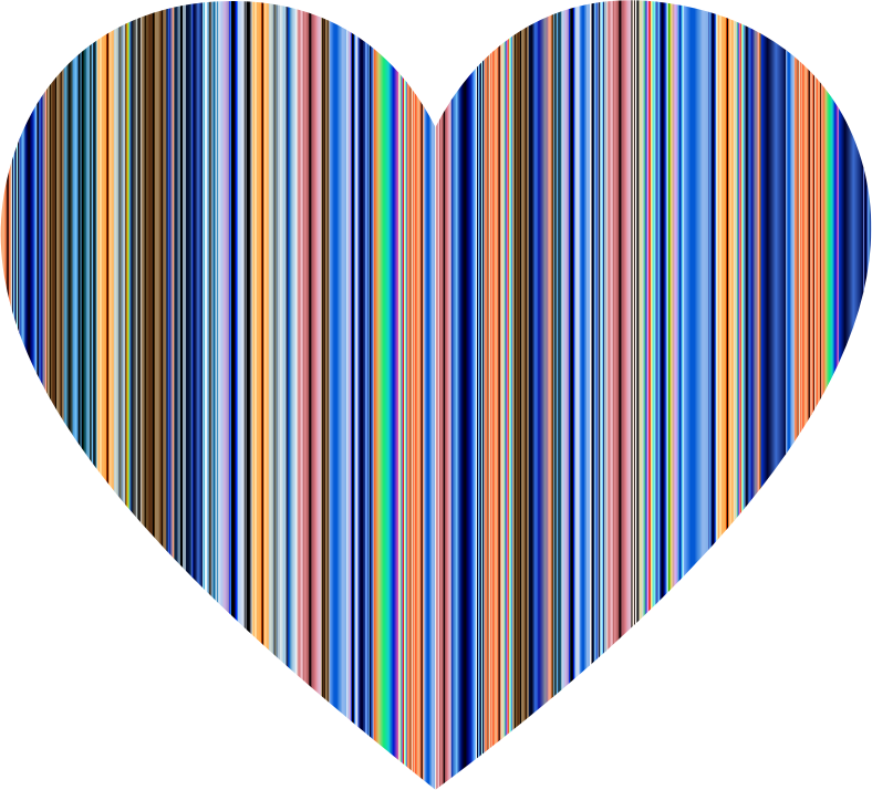 Colorful Striped Heart