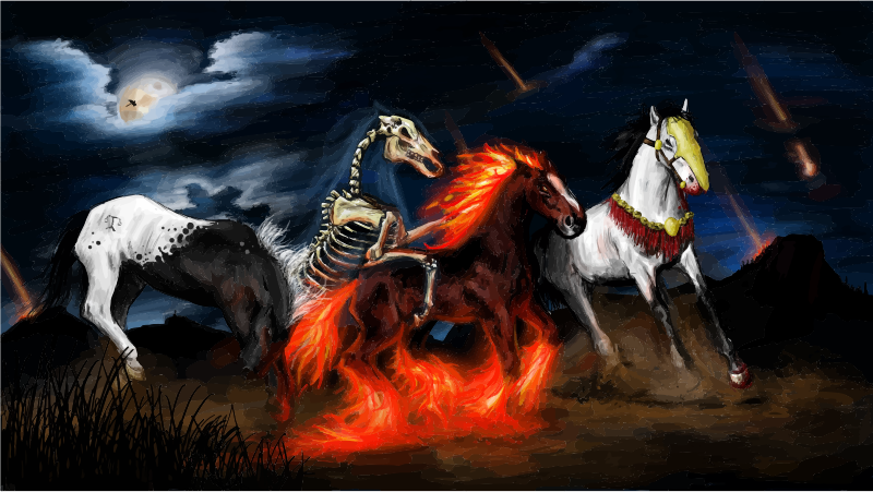 Four Equines Of The Apocalypse