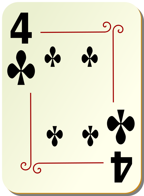 Ornamental deck: 4 of clubs