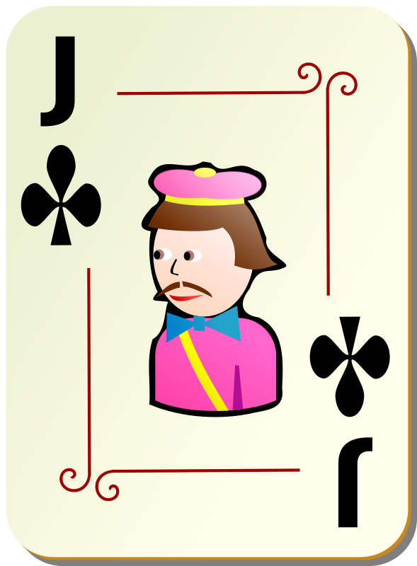Ornamental deck: Jack of clubs