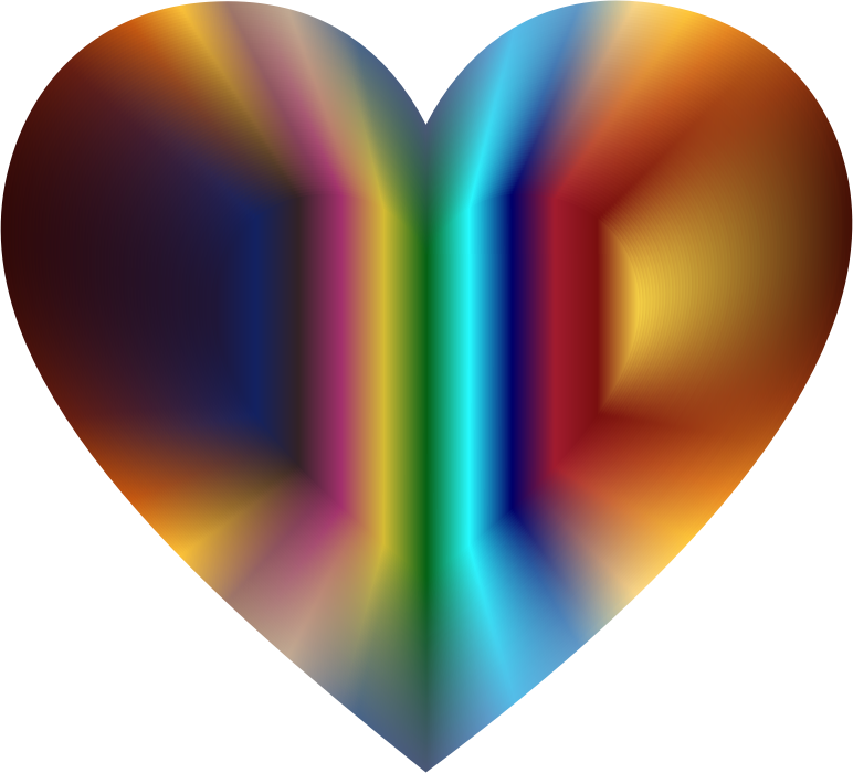 Colorful Refraction Heart 2