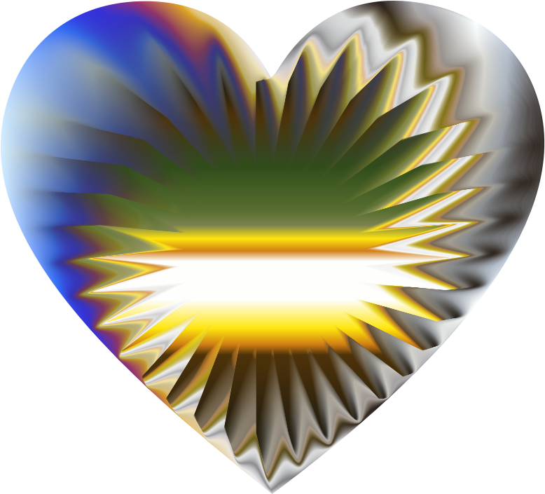Colorful Refraction Heart 6