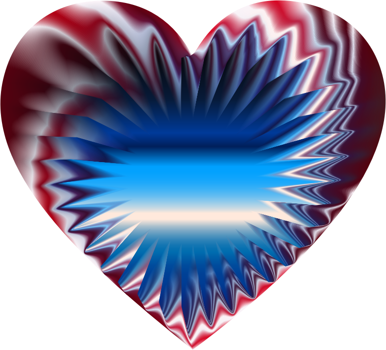 Colorful Refraction Heart 7