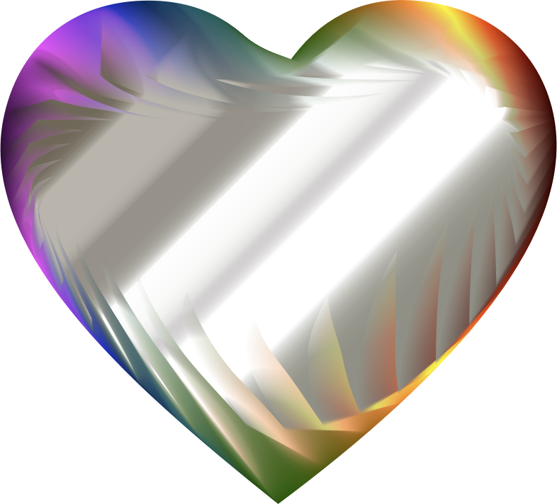 Colorful Refraction Heart 8