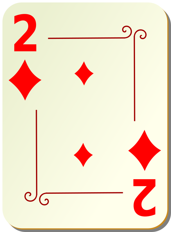 Ornamental deck: 2 of diamonds