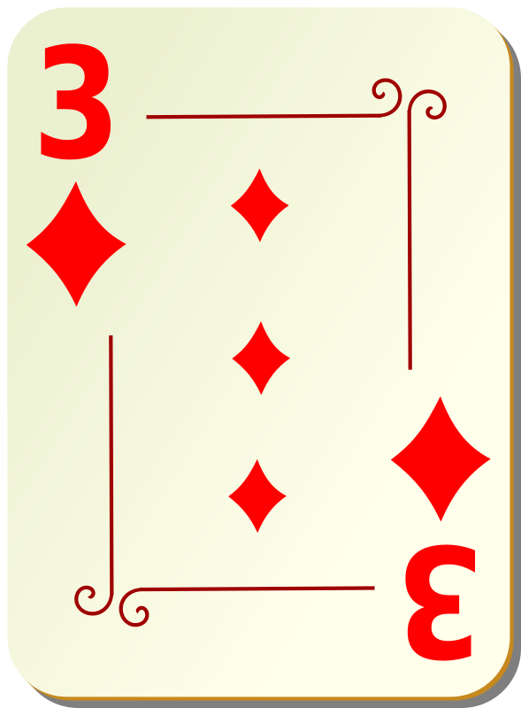 Ornamental deck: 3 of diamonds