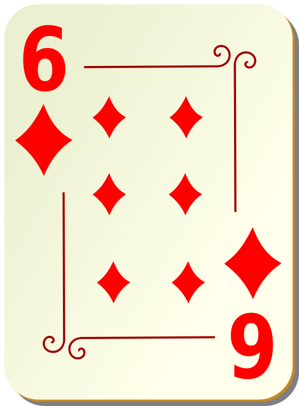 Ornamental deck: 6 of diamonds