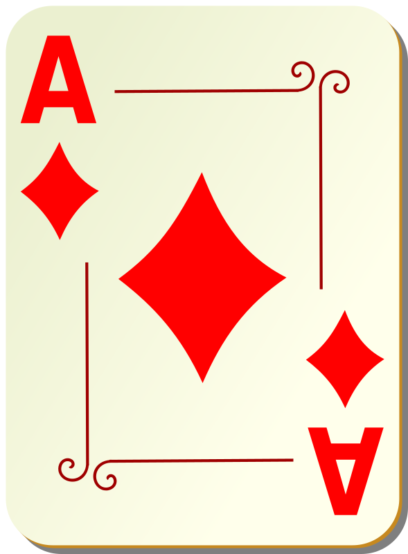 Ornamental deck: Ace of diamonds
