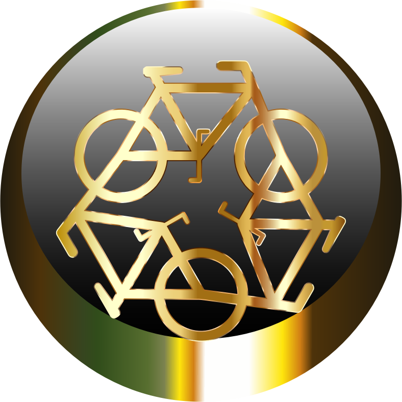 Golden Recycle Icon