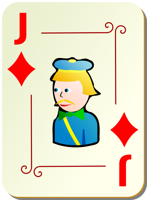 Ornamental deck: Jack of diamonds