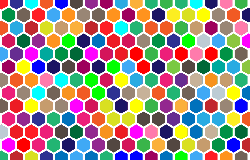 Colorful Hex Grid Pattern 2