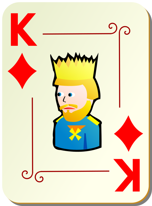 Ornamental deck: King of diamonds