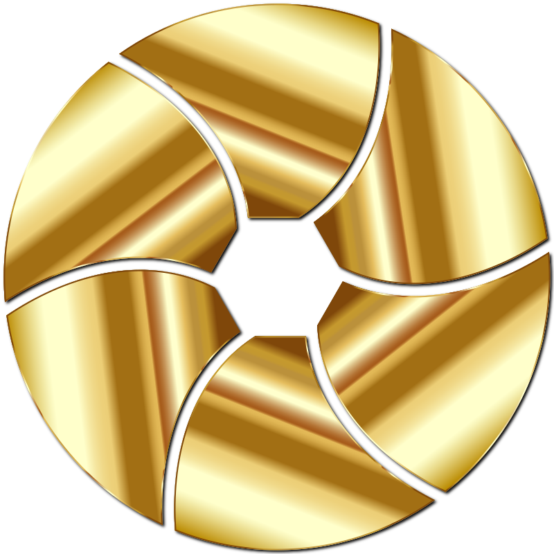 Gold Shutter Icon Enhanced