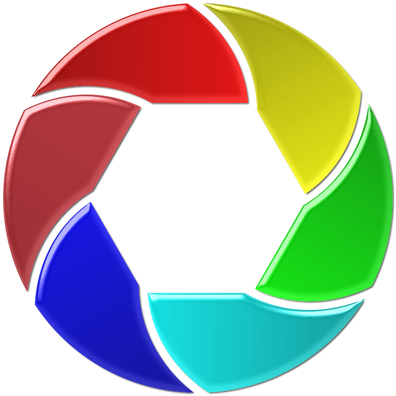 Colorful Shutter Icon Enhanced 2