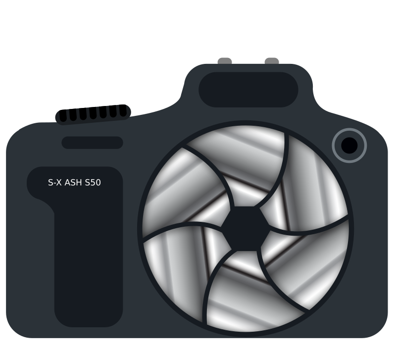 DSLR Camera With Metallic Shutter