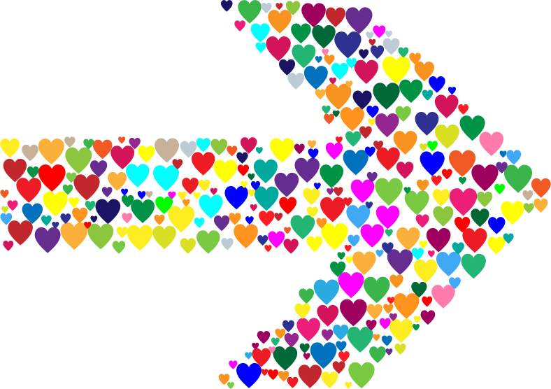 Colorful Hearts Arrow