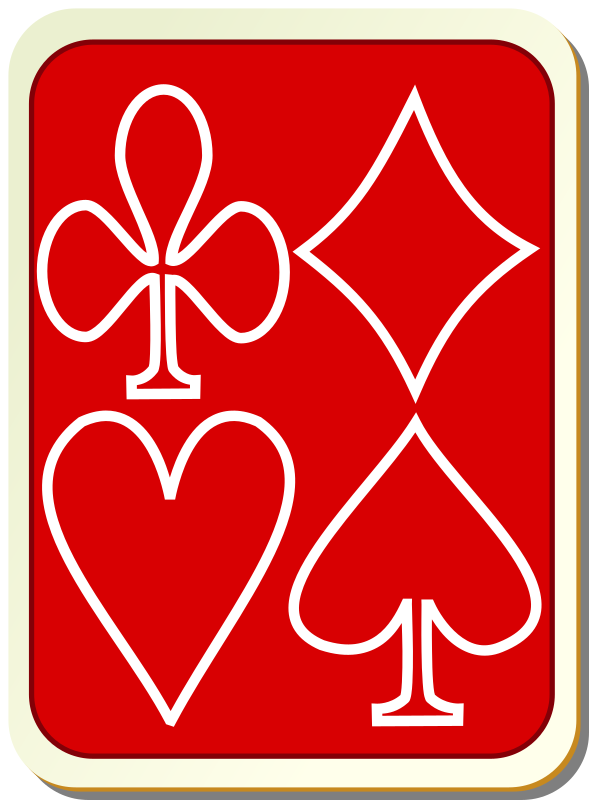 Card backs: simple red