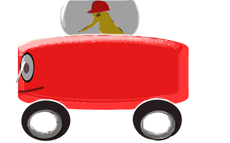 Red Toy Car, Cartoon