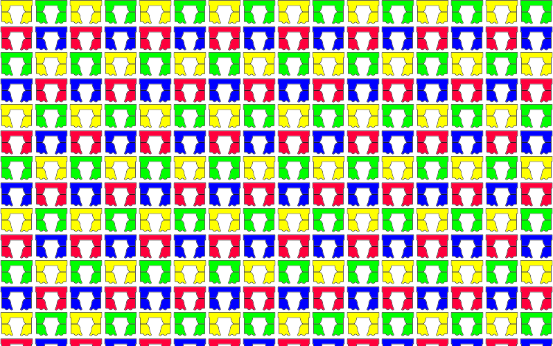 Colorful Curtains Seamless Pattern
