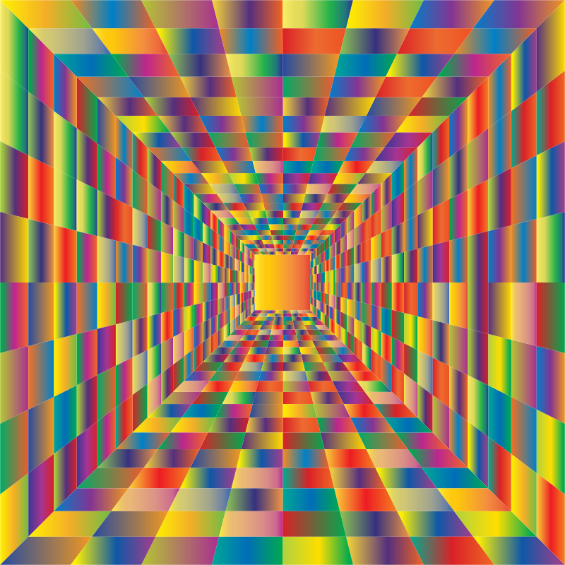 Colorful Perspective Grid 3