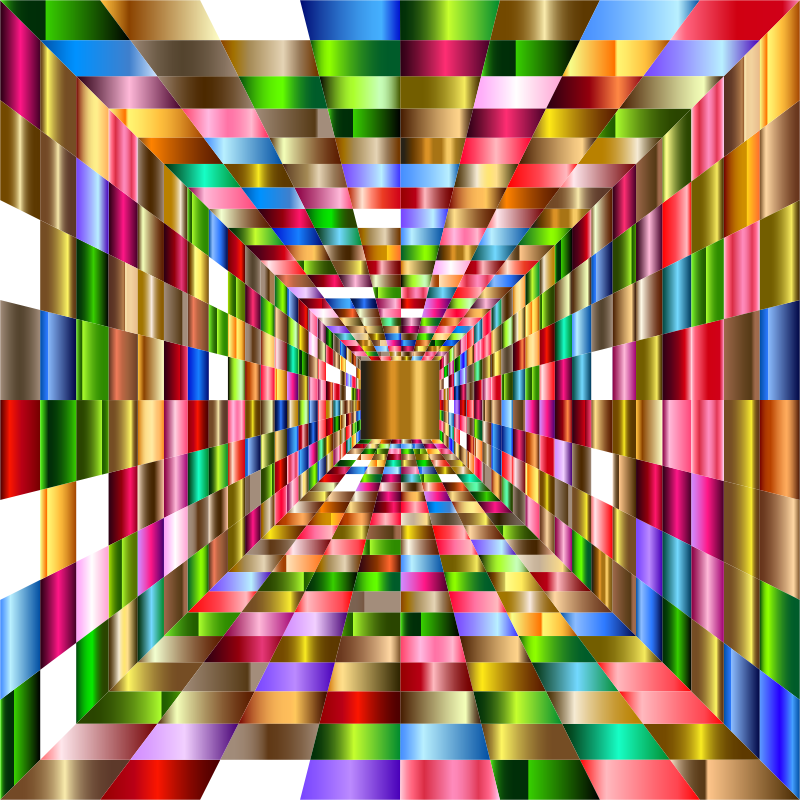 Colorful Perspective Grid 4