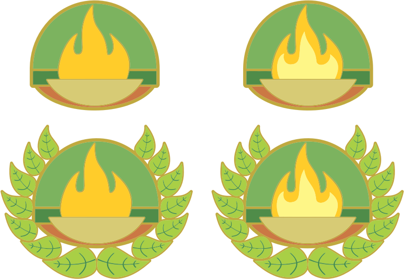 Braziers Of Fire With Wreaths