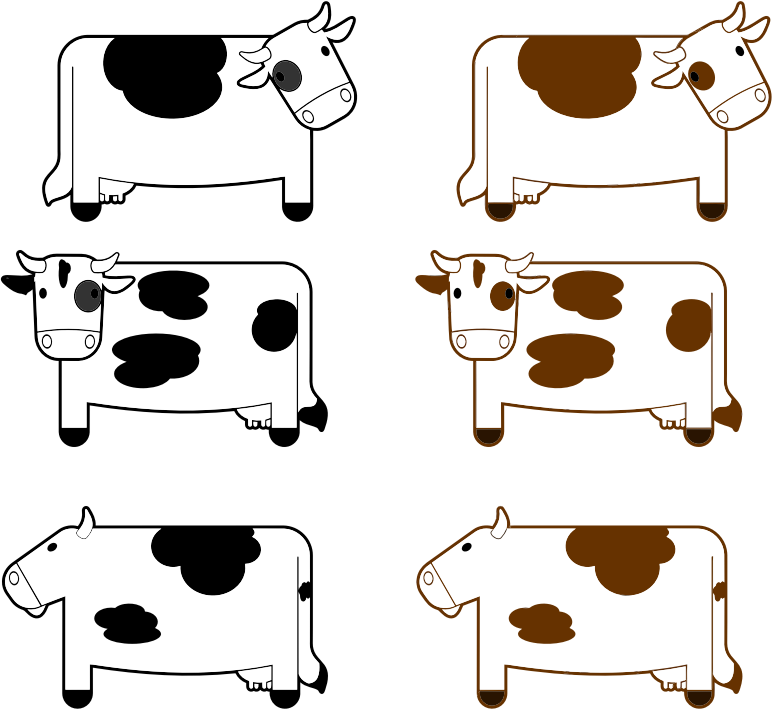 Black And Brown Cows