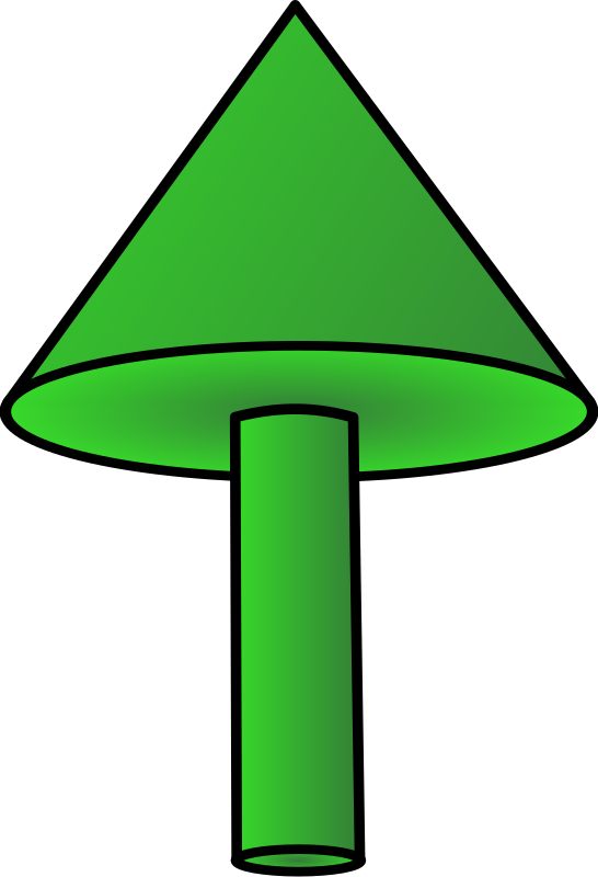 3d arrow up