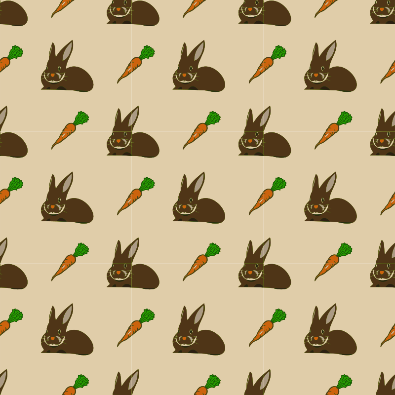 Rabbit and Carrot-seamless pattern