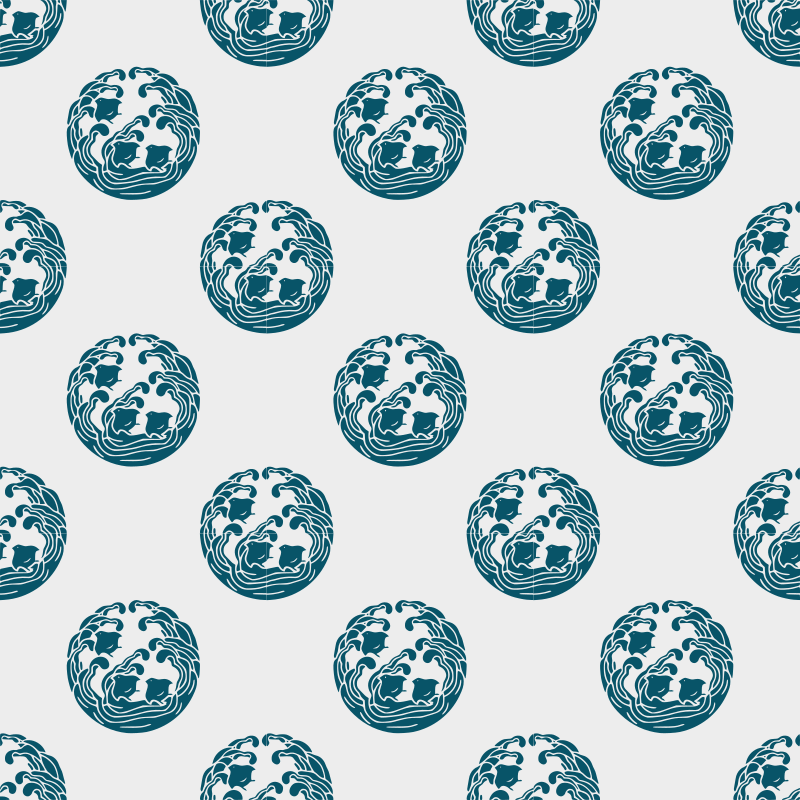 Wave and plover -seamless pattern