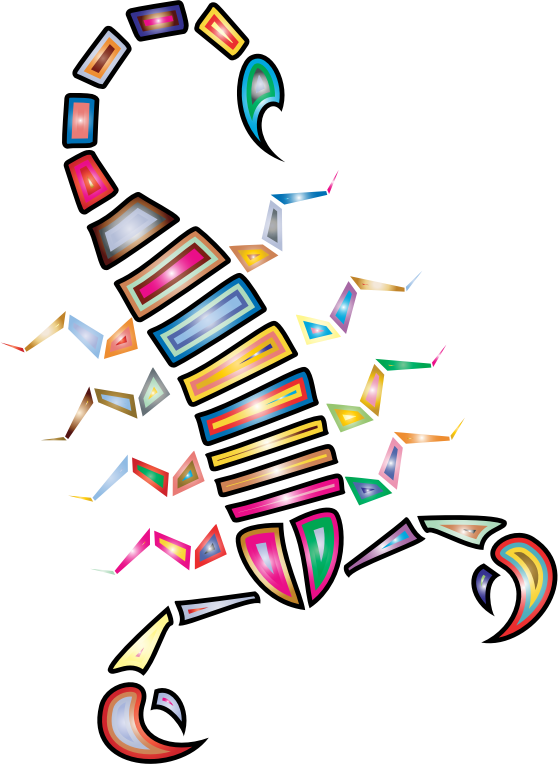 Colorful Abstract Tribal Scorpion