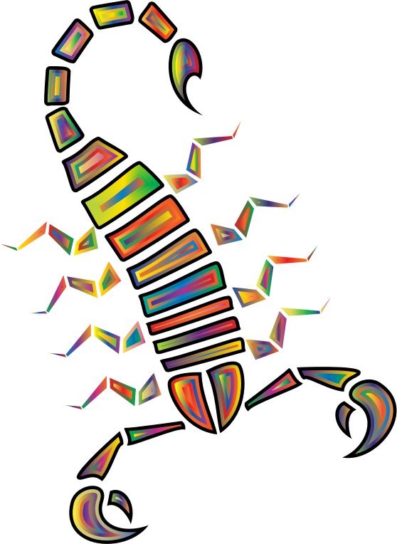 Colorful Abstract Tribal Scorpion 3