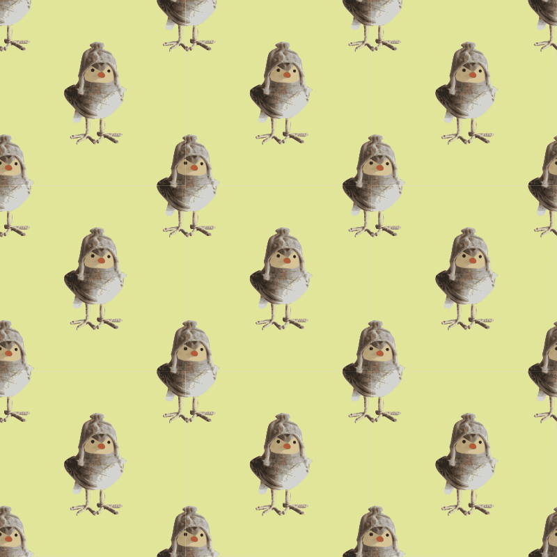 Bird craftwork-seamless pattern