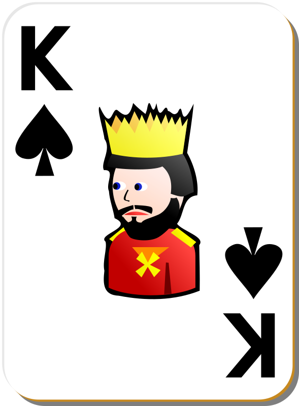 White deck: King of spades