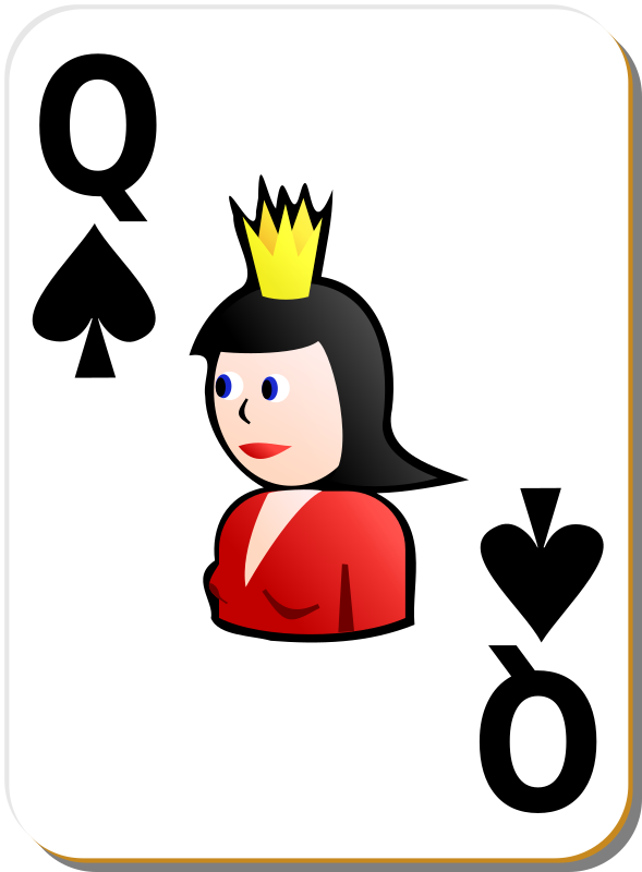 White deck: Queen of spades
